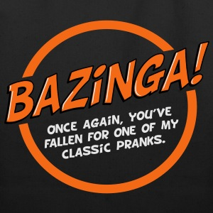 Bazinga! - white text - Eco-Friendly Cotton Tote