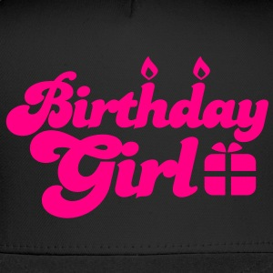 birthday girl new with present Women's T-Shirts - Trucker Cap