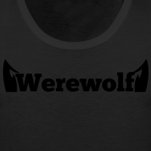 werewolf the word  in type with doggy ears Women's T-Shirts - Men's Premium Tank