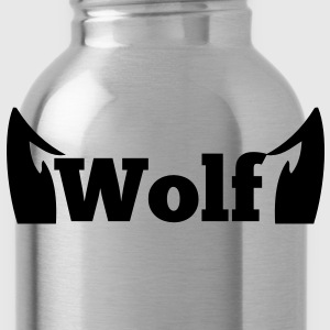 wolf in type with cute ears Long Sleeve Shirts - Water Bottle