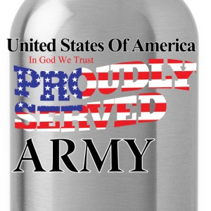 Proudly Served Army - Water Bottle