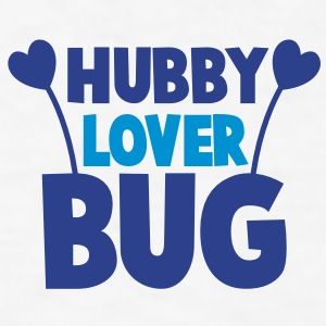 hubby husband lover love bug with cute antennae Gift - Men's T-Shirt