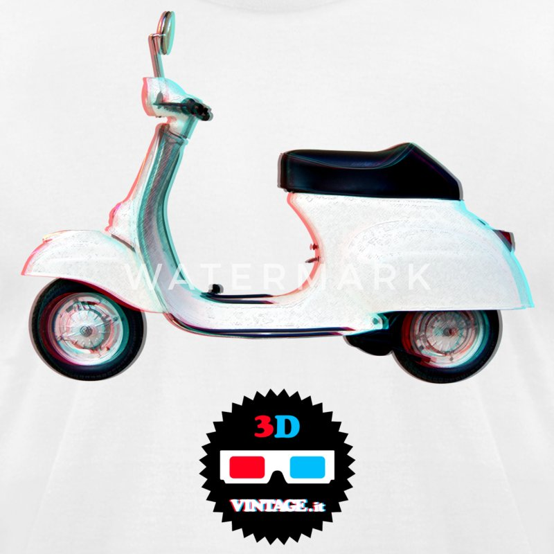 Vespa 3D vintage - Men's T-Shirt by American Apparel