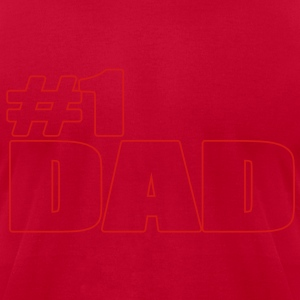 #1 DAD Long Sleeve Shirts - Men's T-Shirt by American Apparel