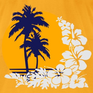 palm sunset Bags  - Men's T-Shirt by American Apparel