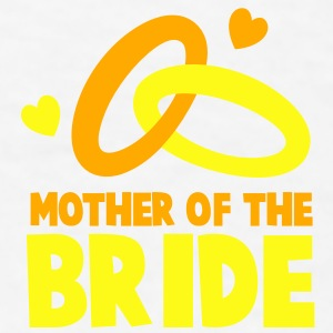 MOTHER OF THE BRIDE with cute love hearts and rings Gift - Men's T-Shirt