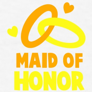MAID OF HONOR with cute love hearts and rings Gift - Men's T-Shirt