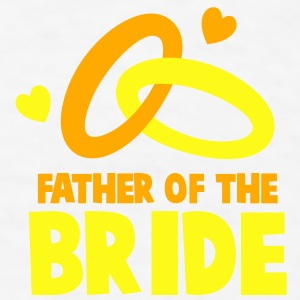 FATHER OF THE BRIDE with cute love hearts and rings Gift - Men's T-Shirt