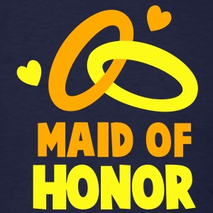 MAID OF HONOR with cute love hearts and rings Long Sleeve Shirts - Men's T-Shirt
