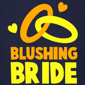 BLUSHING BRIDE with cute love hearts and rings Long Sleeve Shirts - Men's T-Shirt