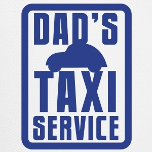 CAR with Dad's TAXI service in a rectangle Accessories - Trucker Cap