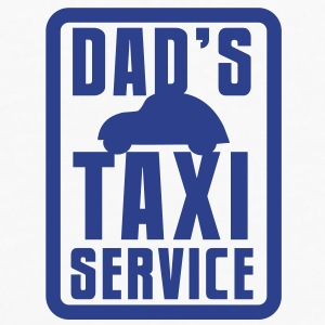 CAR with Dad's TAXI service in a rectangle Accessories - Men's Premium Long Sleeve T-Shirt