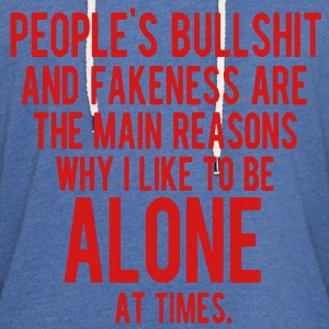 PEOPLE'S BULLSHIT AND FAKENESS  T-Shirts - Unisex Lightweight Terry Hoodie