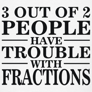 White Math: Trouble With Fractions Men - Men's T-Shirt