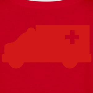 Ambulance simple shape outline with a cross  Zip Hoodies/Jackets - Women's V-Neck T-Shirt