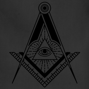 All Seeing Eye (Black) - T-Shirts - Adjustable Apron