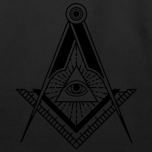 All Seeing Eye (Black) - T-Shirts - Eco-Friendly Cotton Tote
