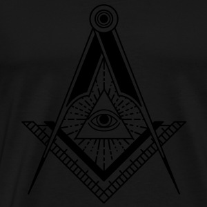 All Seeing Eye (Black) - Long Sleeve Shirts - Men's Premium T-Shirt