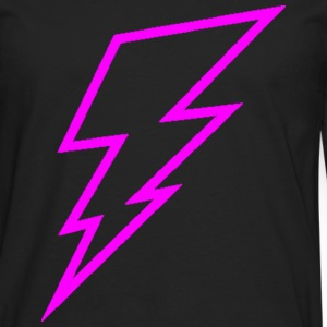 Pink Lightning Bolt Hoodies - Men's Premium Long Sleeve T-Shirt