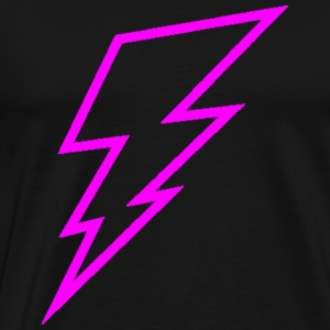 Pink Lightning Bolt Hoodies - Men's Premium T-Shirt