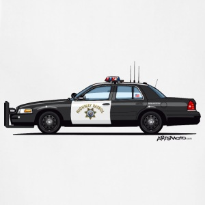 California Highway Patrol CHP Crown Vic (with Lightbar) - Adjustable Apron