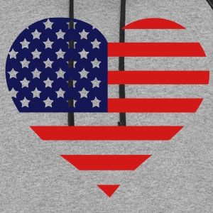 American Heart (HQ) Women's T-Shirts - Colorblock Hoodie