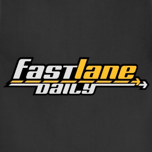 Fast Lane Daily logo in 3 colors! Hoodies - Adjustable Apron