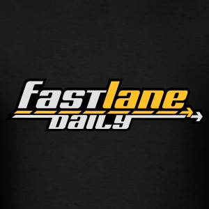 Fast Lane Daily logo in 3 colors! Hoodies - Men's T-Shirt