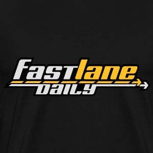 Fast Lane Daily logo in 3 colors! Hoodies - Men's Premium T-Shirt