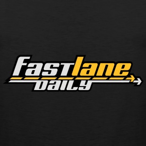 Fast Lane Daily logo in 3 colors! Hoodies - Men's Premium Tank