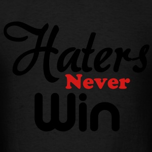haters_never_win Long Sleeve Shirts - Men's T-Shirt