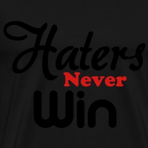 haters_never_win Long Sleeve Shirts - Men's Premium T-Shirt