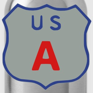 US Highway sign USA Hoodies - Water Bottle