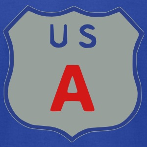 US Highway sign USA Hoodies - Men's T-Shirt by American Apparel