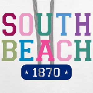 South Beach 1870 Tall T-Shirt - Contrast Hoodie
