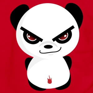 Evil Panda T-Shirt - Unisex Fleece Zip Hoodie by American Apparel