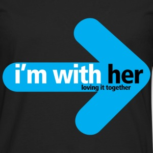 I'm With Her - Men's Premium Long Sleeve T-Shirt