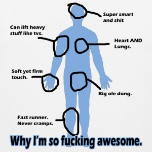 Why I'm so Fucking Awesome Long Sleeve Shirts - Men's Premium Tank