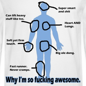 Why I'm so Fucking Awesome Women's T-Shirts - Men's Long Sleeve T-Shirt