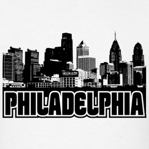 Philadelphia Skyline Hooded Sweatshirt - Men's T-Shirt