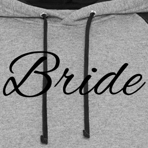 Bride Text Graphic Vector | Perfect gift for tshirts or hoodies for the Bride to Be! - Colorblock Hoodie