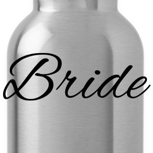Bride Text Graphic Vector | Perfect gift for tshirts or hoodies for the Bride to Be! - Water Bottle