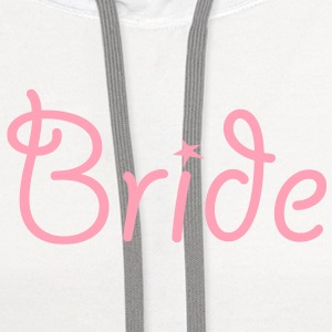 Bride Text Graphic Vector | Perfect gift for tshirts or hoodies for the Bride to Be! - Contrast Hoodie