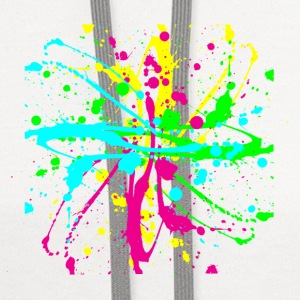 Paint Splatter Colorful Graffiti Graphic Design Picture - Cool tshirt and Hoodie Sweater! - Contrast Hoodie
