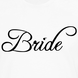 Bride Text Graphic Vector | Perfect gift for tshirts or hoodies for the Bride to Be! - Men's Premium Long Sleeve T-Shirt