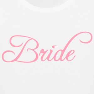 Bride Text Graphic Vector | Perfect gift for tshirts or hoodies for the Bride to Be! - Men's Premium Tank
