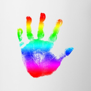 Handprint Graphic Design | Rainbow | Cool Tshirt or Hoodie Clothing Picture! - Coffee/Tea Mug