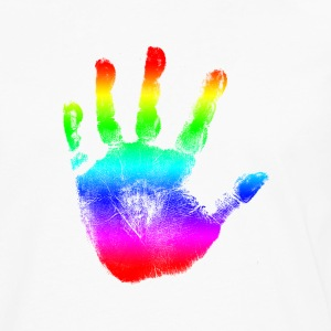 Handprint Graphic Design | Rainbow | Cool Tshirt or Hoodie Clothing Picture! - Men's Premium Long Sleeve T-Shirt