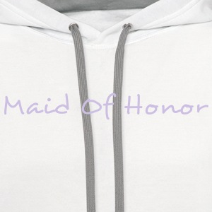 Maid of Honor Text Graphic Design Perfect gift for tshirts or hoodies for the Bridal Party! - Contrast Hoodie