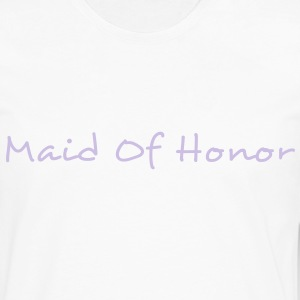 Maid of Honor Text Graphic Design Perfect gift for tshirts or hoodies for the Bridal Party! - Men's Premium Long Sleeve T-Shirt